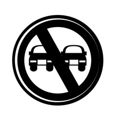 no overtaking traffic signal vector image