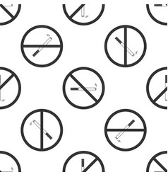no smoking sign cigarette icon seamless pattern vector image