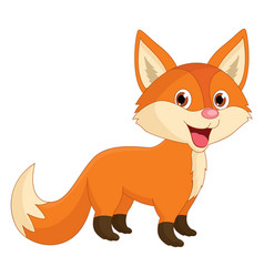 Of cartoon fox vector