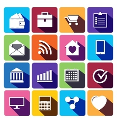 Office and business Flat icons for Web vector