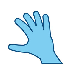 outstretched hand symbol vector image