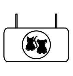 Pet shop banner hanging vector