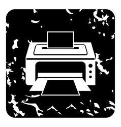 Photo printer icon grunge style vector