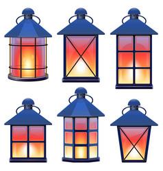 Retro lamp set 1 vector