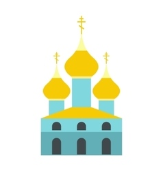 Russian orthodox church flat icon vector image