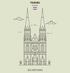 saint joseph church in tilburg vector image