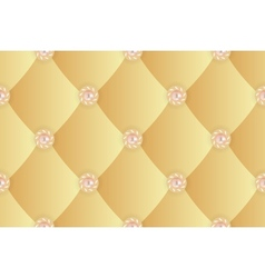 Seamless background with yellow upholstery 2 vector image vector image