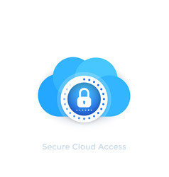 secure cloud access vector image