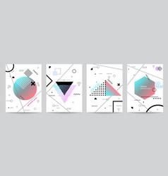 set minimalist covers design with geometric vector image