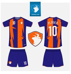 soccer jersey football kit mockup template design vector image