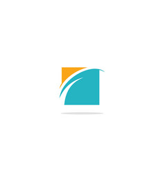 square curve abstract company logo vector image