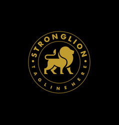 strong lion color design concept template vector image