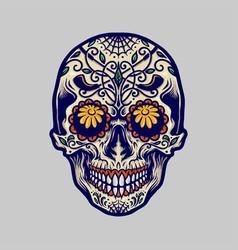 sugar skull dia de los muertos mexico vector image