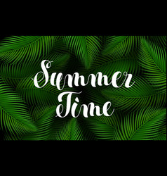 summer time lettering poster text handwriting on vector image