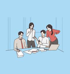 teamwork brainstorm discussion concept vector image