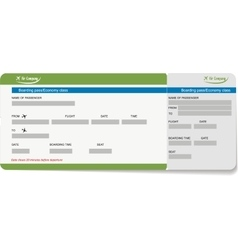 Template of a boarding pass or air ticket vector image