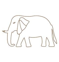 Thai elephant freehand vector