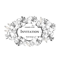 the marriage invitation card romantic event vector image