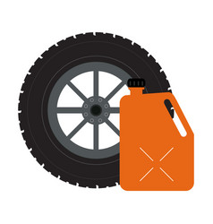 tire wheel and container vector image