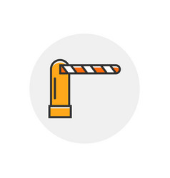 Toll security parking car barrier checkpoint gate vector