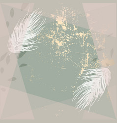 Trendy gold textured background and hand drawn vector