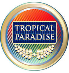 Tropical paradise icon vector