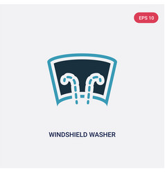 Two color windshield washer icon from shapes vector