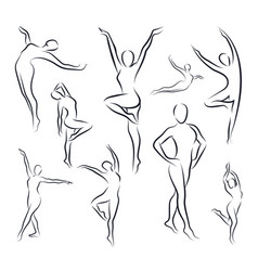 variety women silhouette set vector image