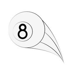 billiard eight ball vector image vector image