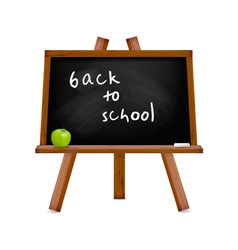 blackboard with easel with text vector image vector image