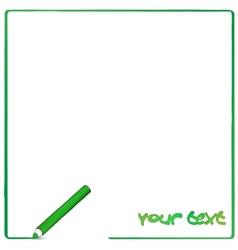 Greeen pencil background vector image vector image