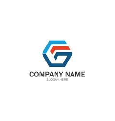 letter g copany logo vector image