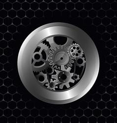 metallic preview vector image