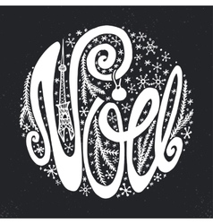 Noelchristmasfrench handwriting fontchalkboard vector