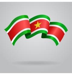 Surinamese waving Flag vector image vector image