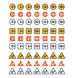 Age rating icons vector image