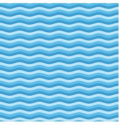 blue flat wave pattern vector image vector image