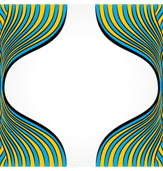 creative blue and yellow strip vector image vector image