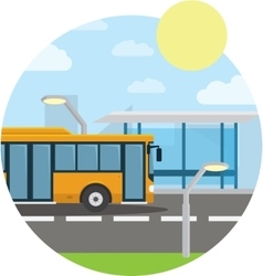 Flat style concept of public transport City bus vector image