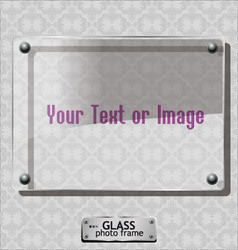 glass photo frame vector image vector image
