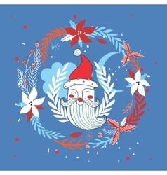 Merry Christmas Happy New Year Santa Claus vector image vector image