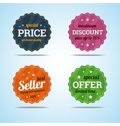 Special set of premium sale badges in flat style vector image vector image