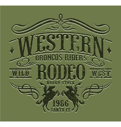 Western riders rodeo vector