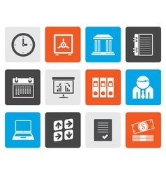 Flat Business finance and office icons vector image vector image