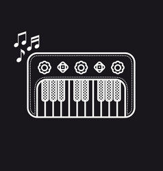 Piano musical instrument baby toy cartoon style vector