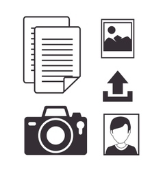 set upload process design isolated vector image vector image