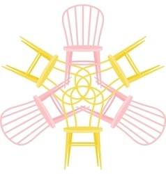 set with chairs vector image vector image
