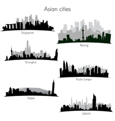 Asian cities skylines vector image