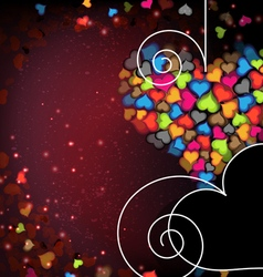 Colorful Valentine hearts Abstract Valentines Day vector image