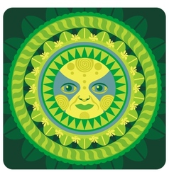 concentric decorative vernal sun vector image vector image